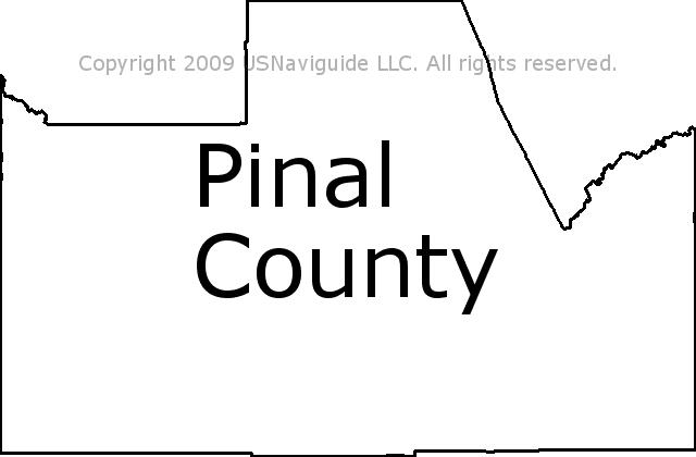Pinal County Zip Code Map.Pinal County Arizona Zip Code Boundary Map Az