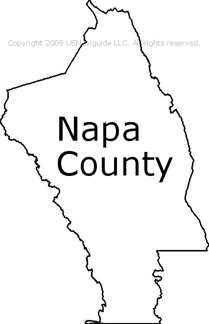 Napa Zip Code Map.Napa County California Zip Code Boundary Map Ca
