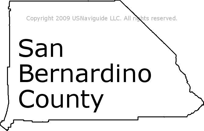 San Bernardino County California Zip Code Boundary Map Ca