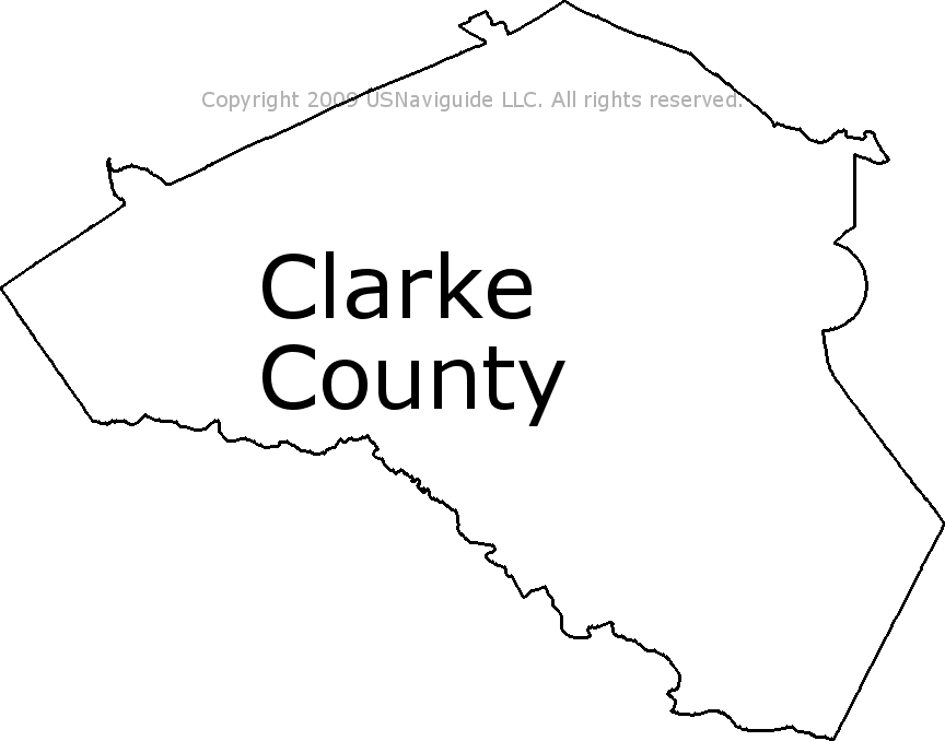 Clarke County Georgia Zip Code Boundary Map Ga
