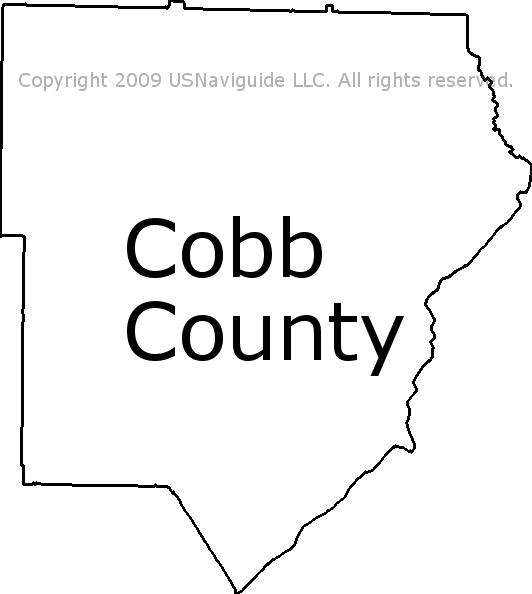 Cobb County - Georgia Zip Code Boundary Map (GA) on