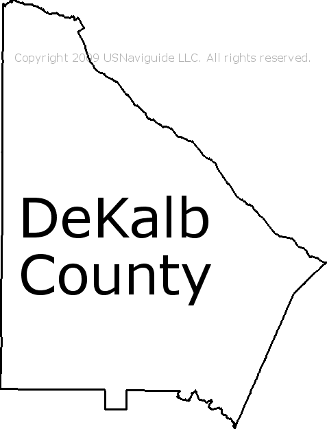 Dekalb Zip Code Map.Dekalb County Georgia Zip Code Boundary Map Ga