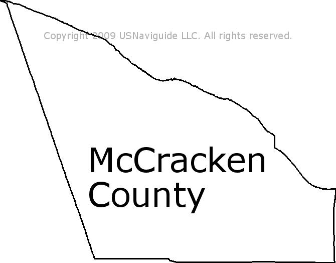Mccracken County Kentucky Zip Code Boundary Map Ky