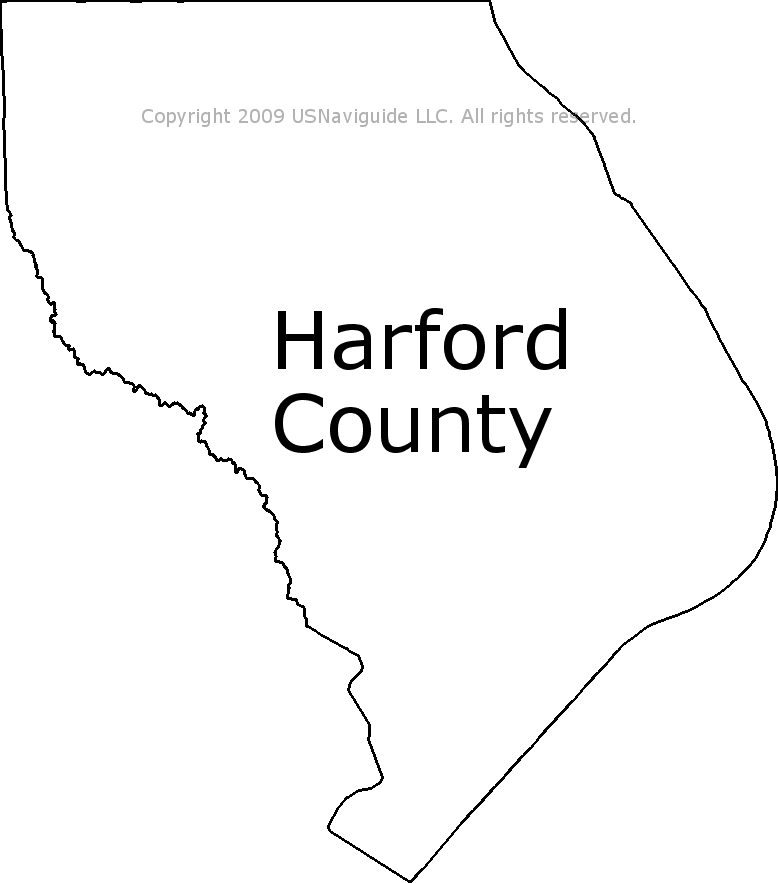 Harford County - Maryland Zip Code Boundary Map (MD) on