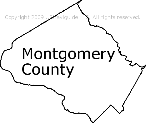 Montgomery County - Maryland Zip Code Boundary Map (MD) on