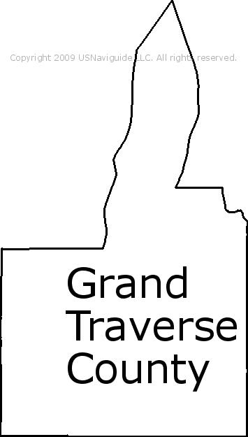 Traverse City Zip Code Map.Grand Traverse County Michigan Zip Code Boundary Map Mi