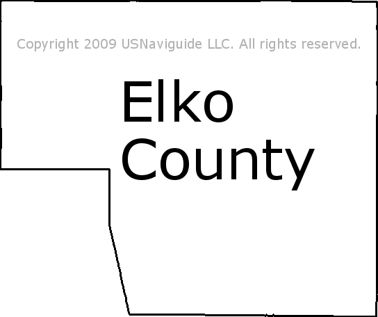 Elko County Nevada Zip Code Boundary Map Nv