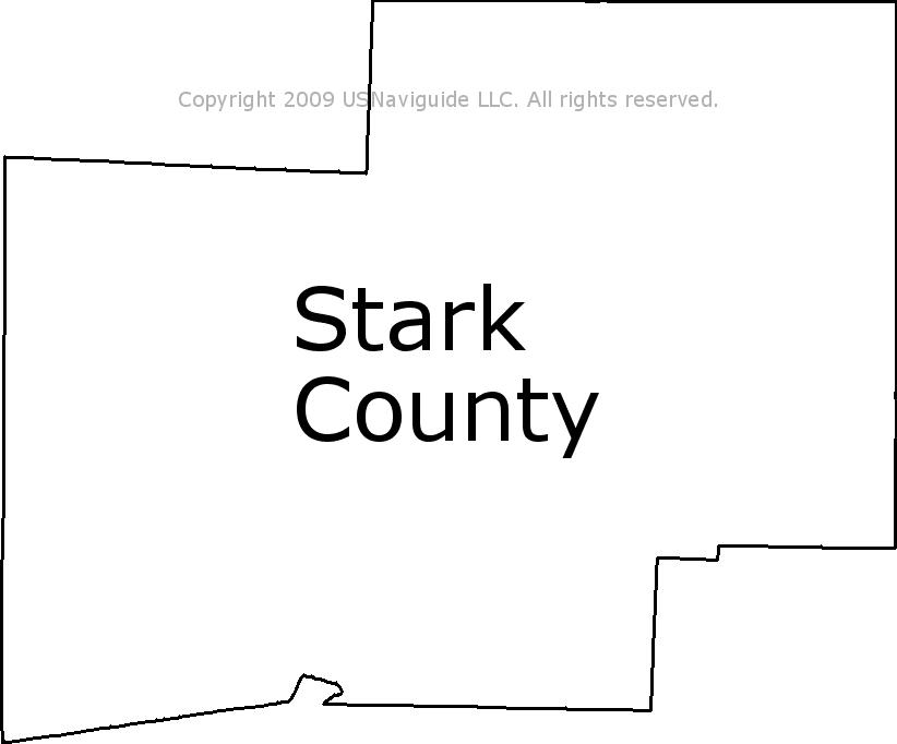 Stark County Ohio Zip Code Boundary Map Oh
