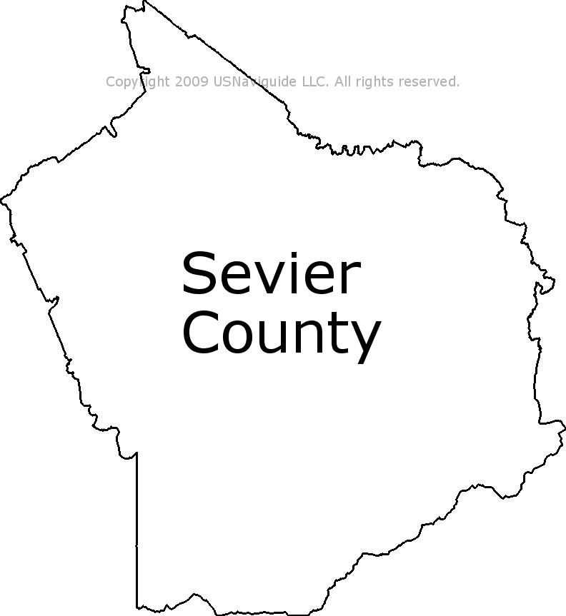 Sevierville Zip Code Map.Sevier County Tennessee Zip Code Boundary Map Tn