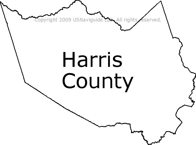 La Porte Tx Zip Code Map.Harris County Texas Zip Code Boundary Map Tx