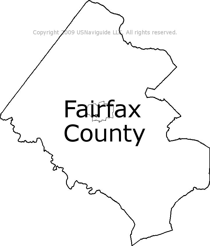 Fairfax County Virginia Zip Code Boundary Map Va