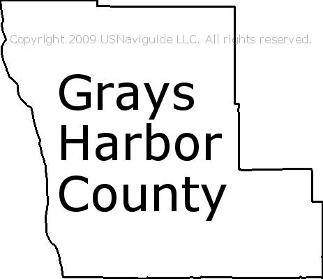 Grays Harbor County - Washington Zip Code Boundary Map (WA)
