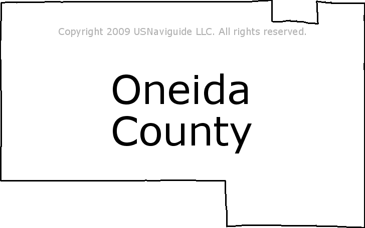 Oneida County Wisconsin Zip Code Boundary Map Wi