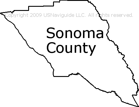 Sonoma Zip Code Map.Sonoma County California Zip Code Boundary Map Ca