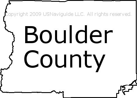 Boulder County Colorado Zip Code Boundary Map Co