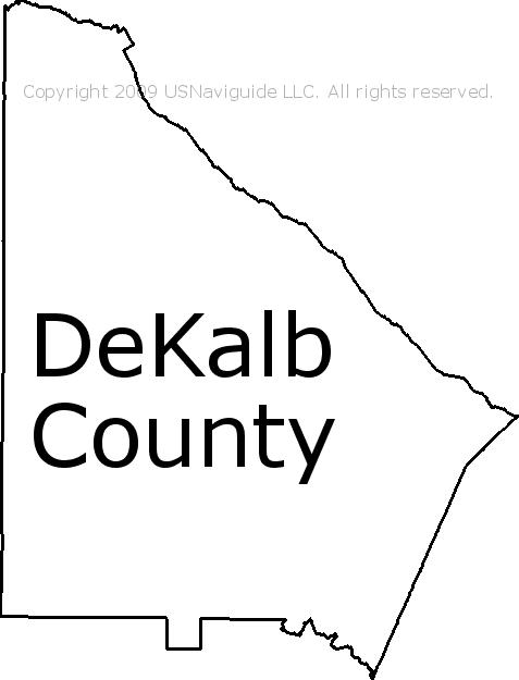 Dekalb Zip Code Map.Dekalb County Georgia Zip Code Boundary Map Ga