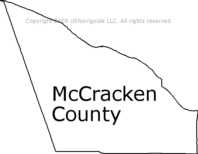 Mccracken County Kentucky Zip Code Boundary Map Ky