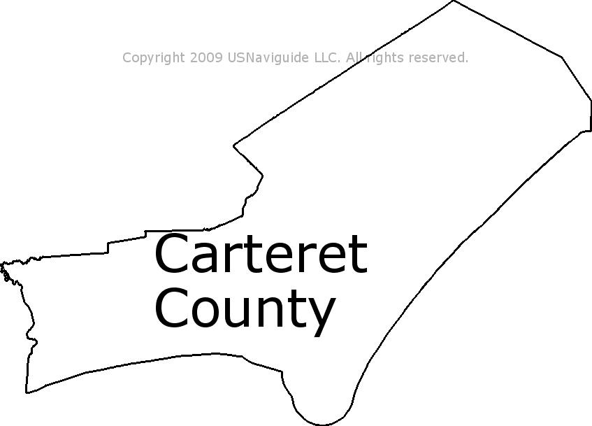 Carteret County Nc Map.Carteret County North Carolina Zip Code Boundary Map Nc