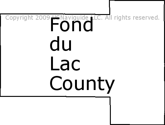 Fond Du Lac Zip Code Map.Fond Du Lac County Wisconsin Zip Code Boundary Map Wi