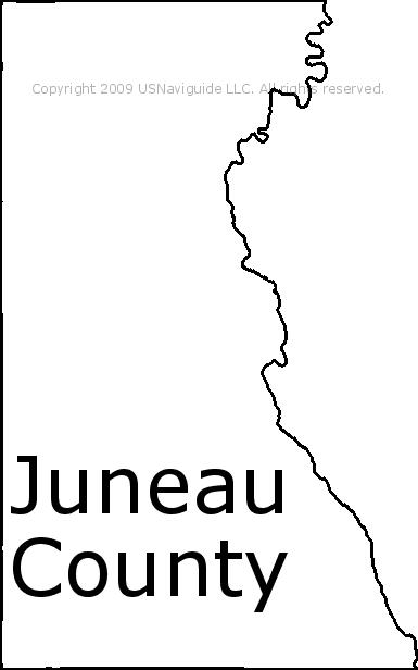 Juneau Zip Code Map.Juneau County Wisconsin Zip Code Boundary Map Wi