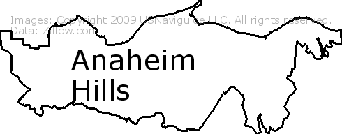 Anaheim Ca Zip Code Map.Anaheim Hills Anaheim California Zip Code Boundary Map Ca