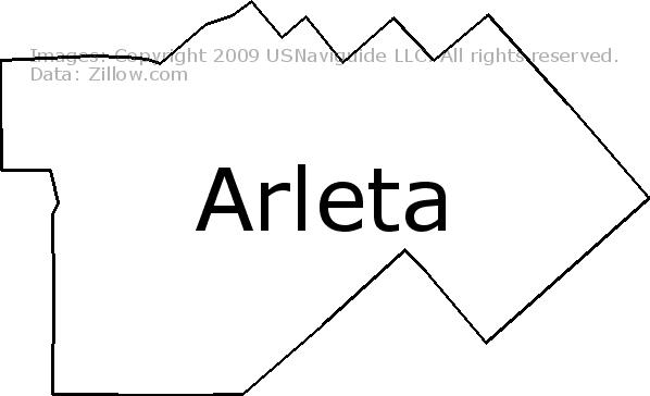 Arletacalifornia Map.Arleta Los Angeles California Zip Code Boundary Map Ca