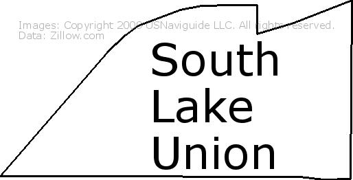 South Lake Union Seattle Washington Zip Code Boundary Map Wa