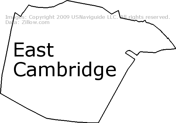 East Cambridge Cambridge Massachusetts Zip Code Boundary Map Ma