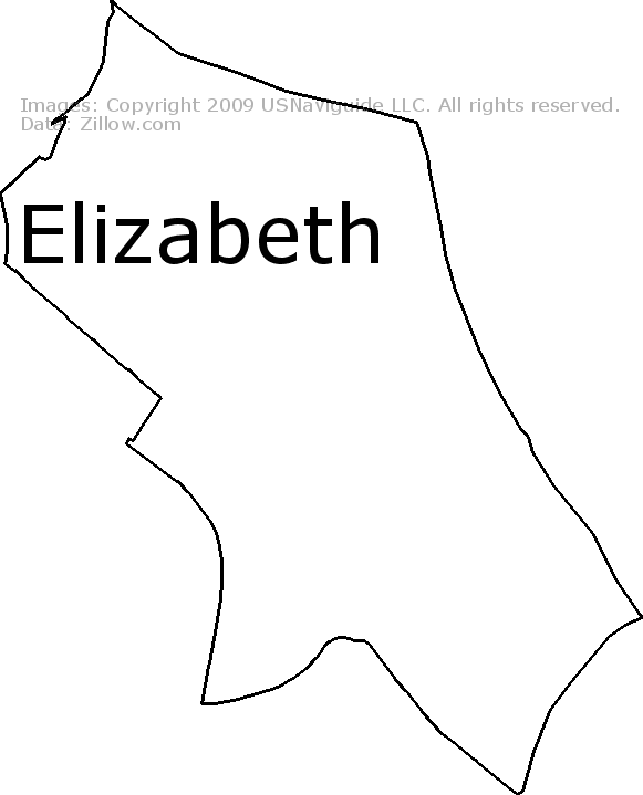Elizabeth, Charlotte, North Carolina Zip Code Boundary Map (NC) on