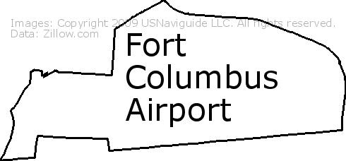 Fort Columbus Airport, Columbus, Ohio Zip Code Boundary Map (OH) on usps zip code map, ohio zip code map, 43015 zip code map, marion oh zip code map,