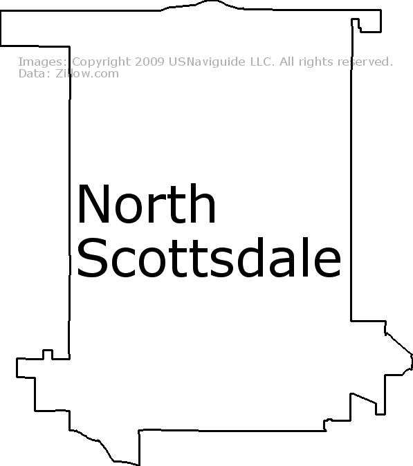North Scottsdale, Scottsdale, Arizona Zip Code Boundary Map (AZ)