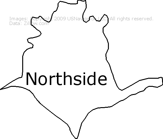 Northside Cincinnati Ohio Zip Code Boundary Map Oh
