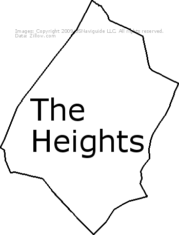 The Heights, Jersey City, New Jersey Zip Code Boundary Map (NJ)