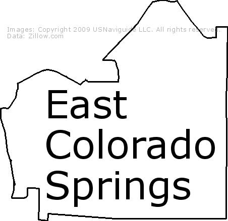 80905 Zip Code Map.East Colorado Springs Colorado Springs Colorado Zip Code Boundary