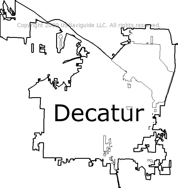 Decatur, Alabama Zip Code Boundary Map (AL)