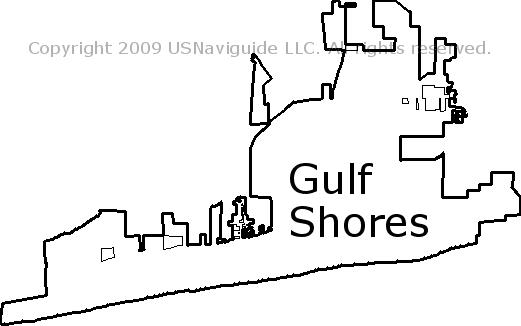 Gulf Shores Al Zip Code Map.Gulf Shores Alabama Zip Code Boundary Map Al