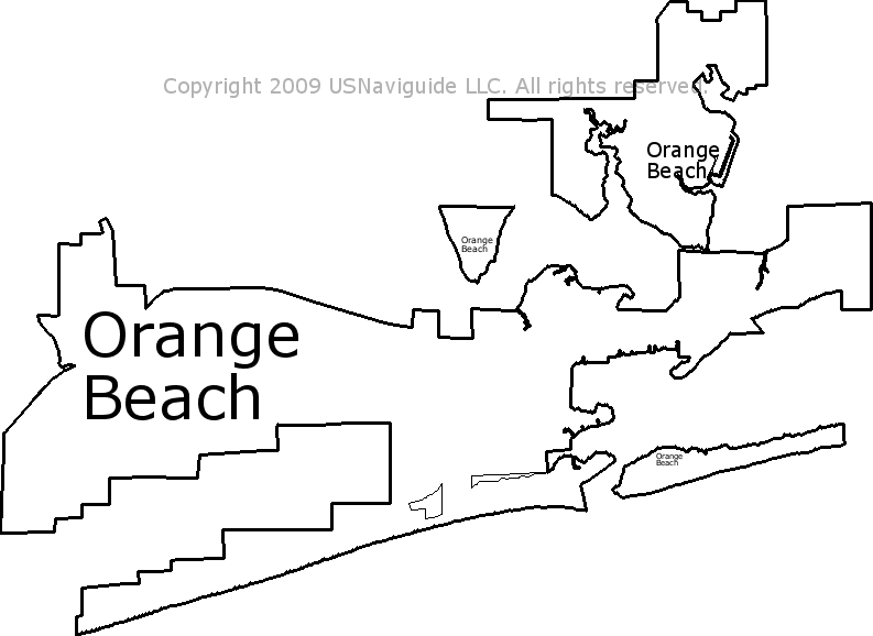 Gulf Shores Al Zip Code Map.Orange Beach Alabama Zip Code Boundary Map Al