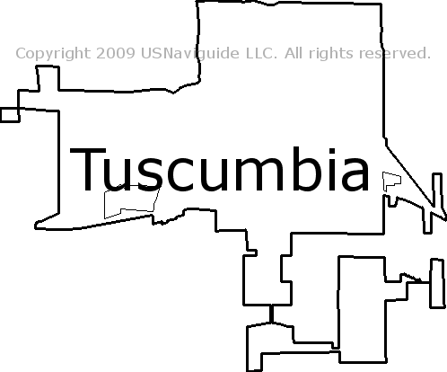 Florence Al Zip Code Map.Tuscumbia Alabama Zip Code Boundary Map Al