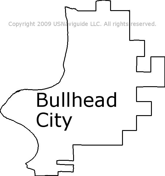 Bullhead City Arizona Zip Code Boundary Map Az