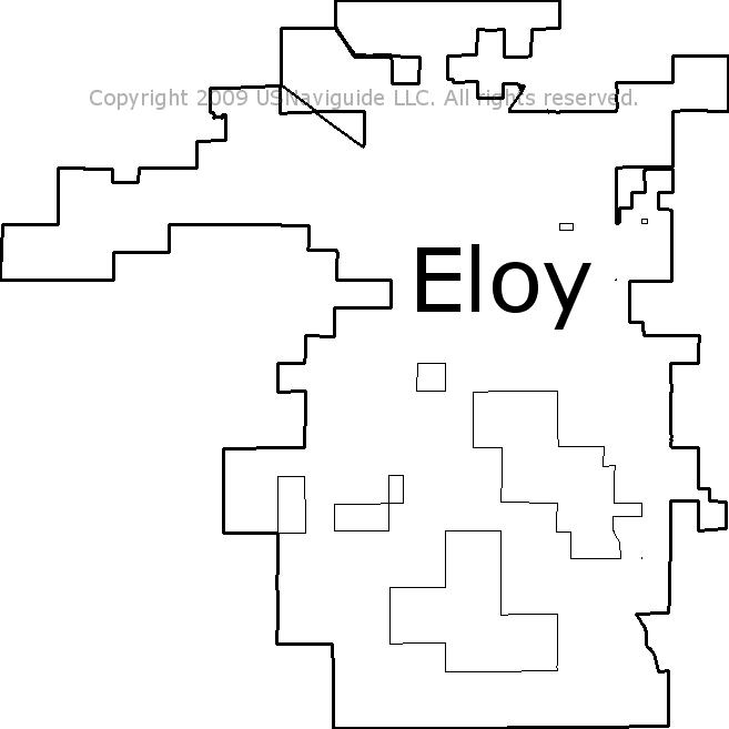 Map Of Eloy Arizona.Eloy Arizona Zip Code Boundary Map Az