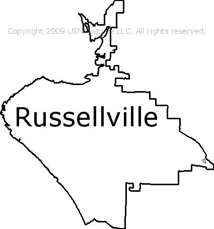 russellville ar zip code map Russellville Arkansas Zip Code Boundary Map Ar