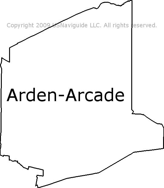 Arden Mall Map Sacramento