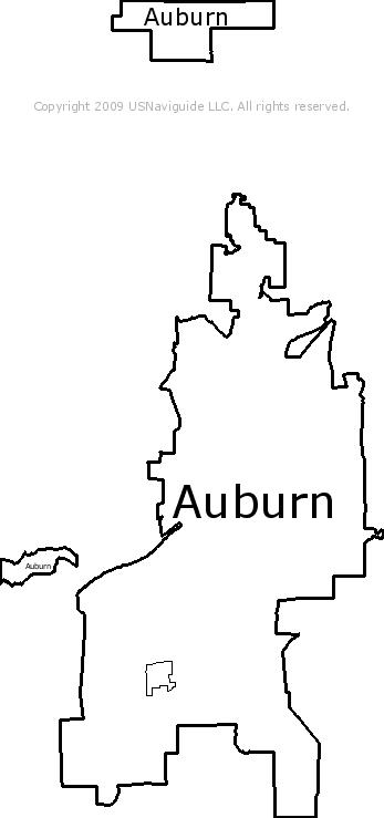 Auburn California Zip Code Boundary Map Ca
