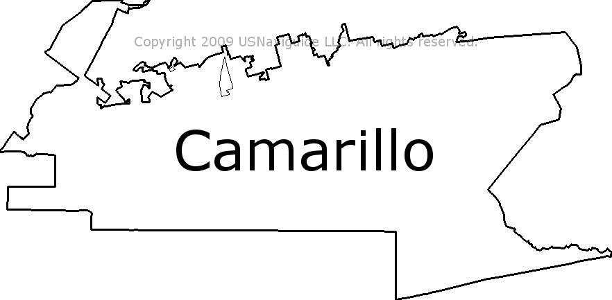 Oxnard Ca Zip Code Map.Camarillo California Zip Code Boundary Map Ca