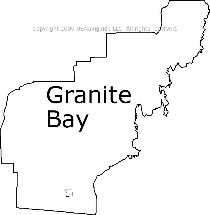 Roseville California Zip Code Map.Granite Bay California Zip Code Boundary Map Ca