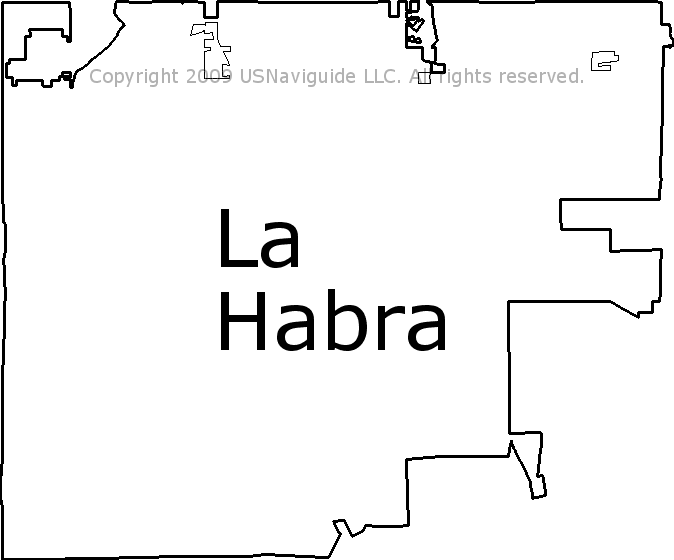 La Habra, California Zip Code Boundary Map (CA)