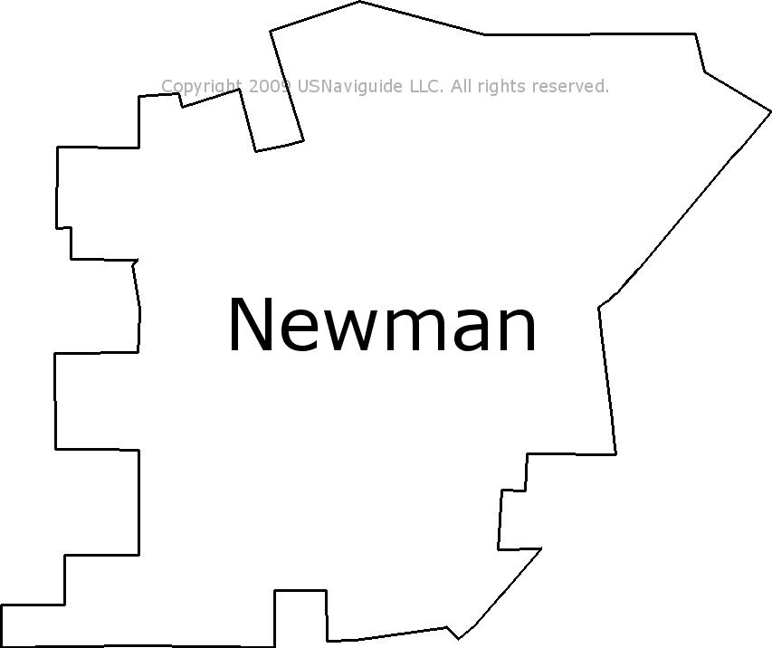 Newman California Map.Newman California Zip Code Boundary Map Ca