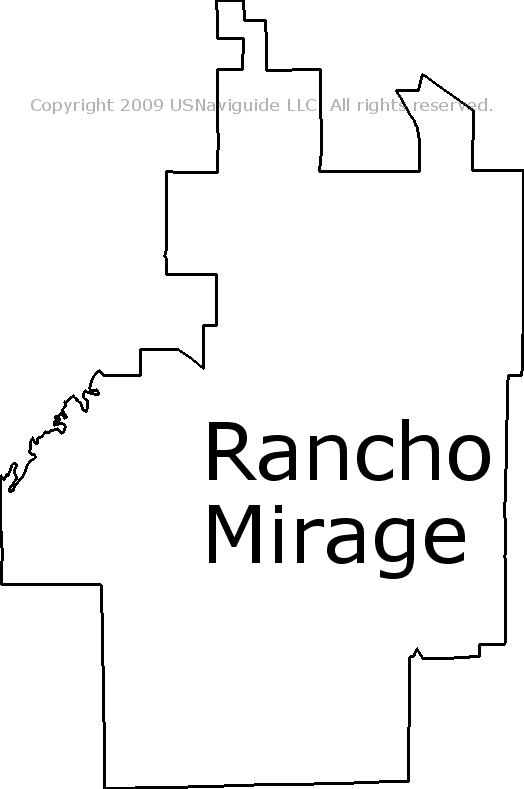 Rancho Mirage Zip Code Map.Rancho Mirage California Zip Code Boundary Map Ca