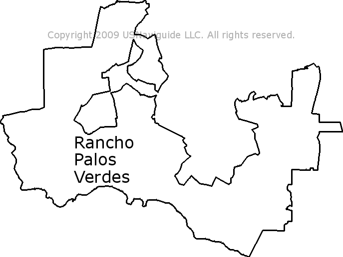 Palos Verdes Zip Code Map.Rancho Palos Verdes California Zip Code Boundary Map Ca
