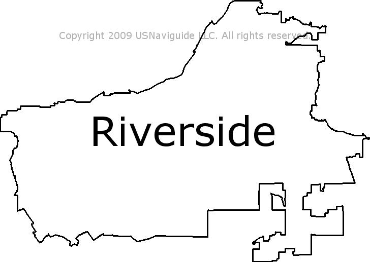Riverside Ca Zip Code Map